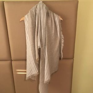 White and Cream Large Square Scarf